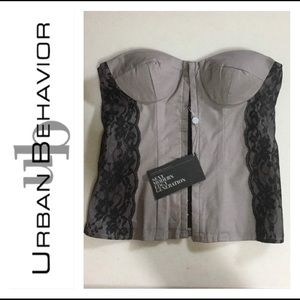 URBAN BEHAVIOUR Grey Bustier Top (BNWT)